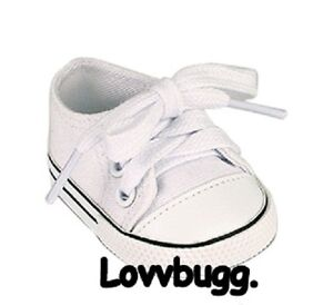 White-Tennis-Sneakers-Doll-Shoes-for-18-American-Girl-Clothes-Widest-Selection