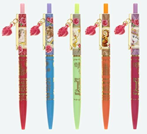 Beauty and the Beast ballpoint pen Set of 5 Rose of charm with stationery Disney