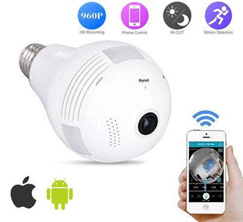 Home Security IP Camera Wireless 960P Wifi 360 Fisheye Panoramic Network LED - $30.99