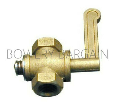 Brass Gas Valve For Chinese Range Wok 38 Npt Inlet Outlet