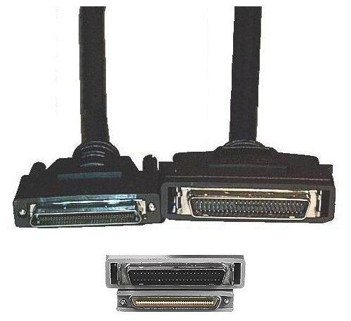 6ft long HD//MD//HPDB50pin SCSI2 Male~M External MM Cable//Cord//Wire drive//HD//scan