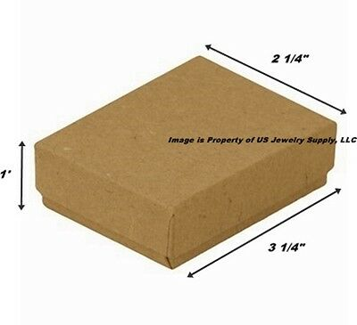 Wholesale 500 Kraft Cotton Fill Jewelry Packaging Gift Boxes 3 14 X 2 14 X 1