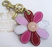Coach Flower Keychain