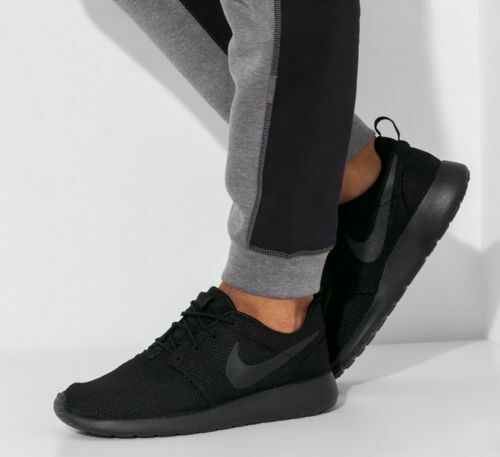 New NIKE Roshe Run One Casual Athletic Sneakers Mens triple black all sizes