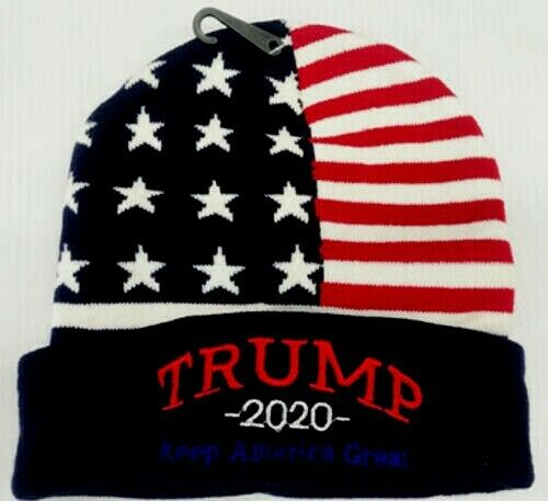 """Trump 2020 Keep America Great"" Embroidered Winter Beanie USA Hat Unisex New!"