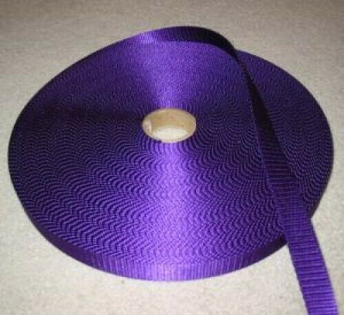 """50yards x 5/8"""" Wide Nylon Webbing - Purple"""