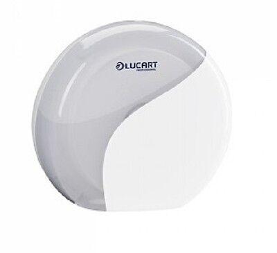 Toilettenpapierspender Spender MiniJumbo Toilettenpapier Lucart Identity weiß
