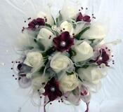 Bridesmaid Posy Burgundy