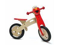 Sesame Street Childs Wooden Training Bike - Elmo