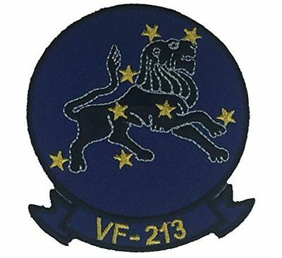 USN NAVY STRIKE FIGHTER SQUADRON VF-213 BLACK LIONS PATCH NAS OCEANA VETERAN