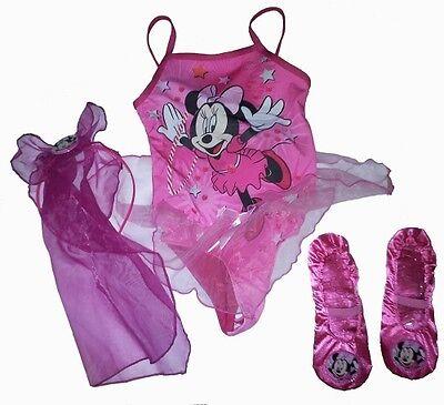 Disney Minnie Maus Ballett Satz 2 bis 4 Jahre Mädchen Kostüm Brandneues Geschenk