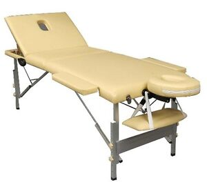 Aluminum 3-Section Portable Massage Table Facial Spa Tattoo Bed Kitchener / Waterloo Kitchener Area image 1