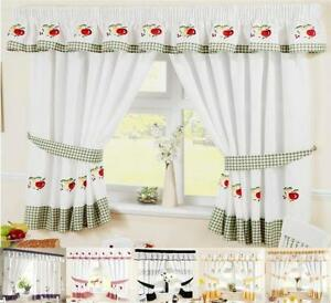 kitchen curtains ebay. Black Bedroom Furniture Sets. Home Design Ideas
