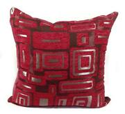 4 Large Red Cushions