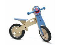 Sesame Street Childs Wooden Training Bike - Grover