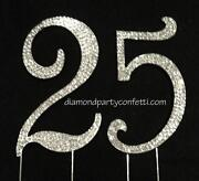 25th Anniversary Cake Topper