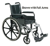 - New in Box - Folding Wheelchair - Removable Arms - Seat Size 1