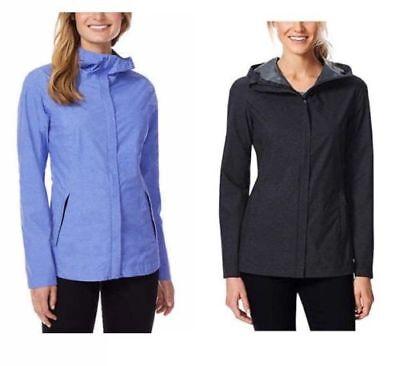 Sale  32 Degrees Cool Womens Waterproof Rain Jacket   S M L Xl   Black   Blue