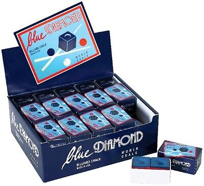 1 Bulk Box (50 Pieces) Blue Diamond Premium Longoni Pool Cue & Billiard Chalk