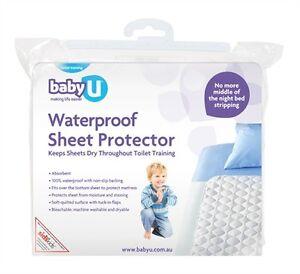 New Baby U Waterproof Sheet Protector Mattress Bed Wetting Topper Kids Toddler