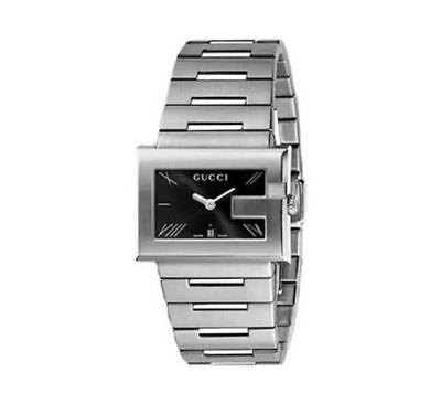 GUCCI Women's YA100505 G-Dial Bracelet Watch Stainless Steel Silver $1,150 NIB