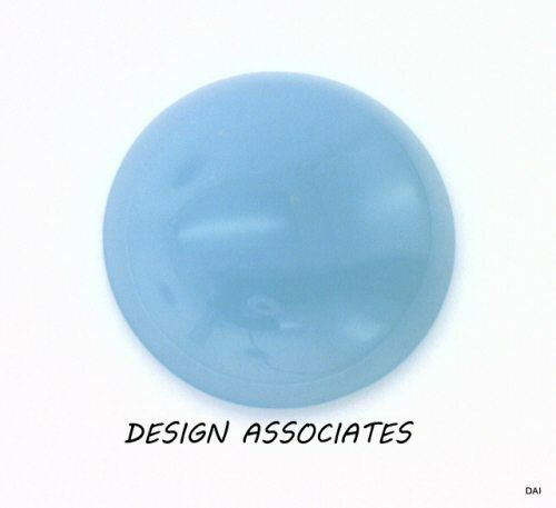 AQUA  BLUE CHALCEDONY 5 MM ROUND CUT CAB OUTSTANDING BLUE COLOR 4 PC SET