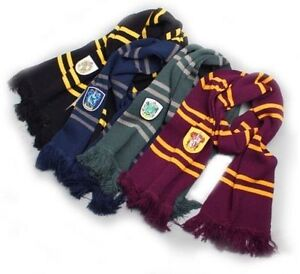 Harry-Potter-Gryffindor-Ravenclaw-Slytherin-Hufflepuff-ispessire-Sciarpe-Costume