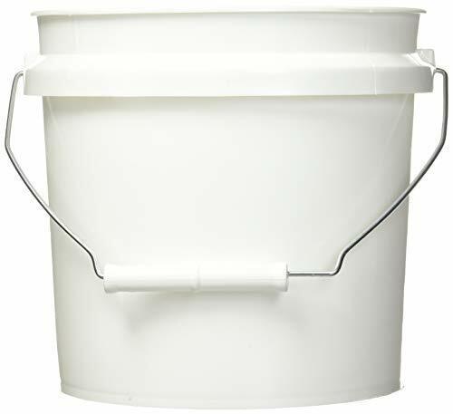 744456 1-Gallon White Plastic Pail Paint Pail/Container