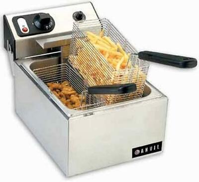 Anvil Ffa-7110 Countertop Two Basket Electric Fryer Mint Condition 110 Volt