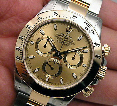 Rolex Daytona 116503 Two Tone Steel & Yellow Gold Champagne Dial 40mm Watch