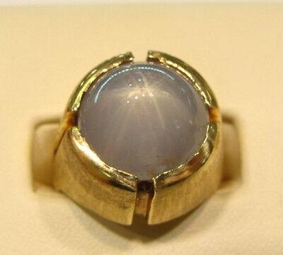 Blue Sapphire Ring For Men Price Mens Estate 14K Yellow...