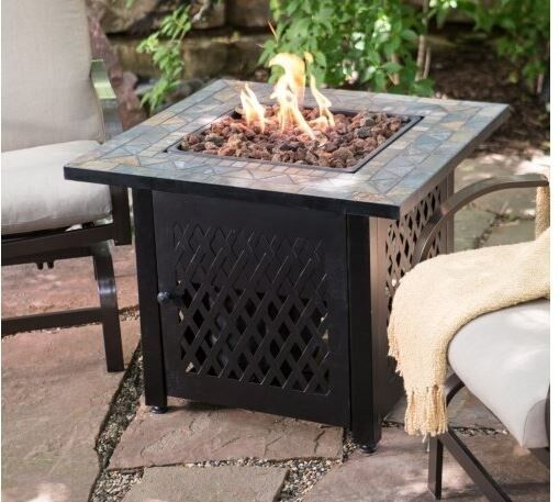 Patio Sets With Propane Fire Pit Table: Propane Fire Pit Table Patio Outdoor Fireplace LP Gas