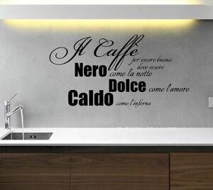 Il cafe wall stickers sticker adesivi murali adesivo decal - Stickers cucina ...