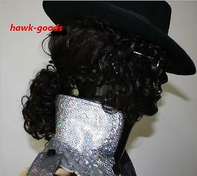 Halloween Michael Jackson Billie Jean BAD Wig & hat & Glove Costume Accessory