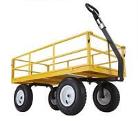 Gorilla Carts Yellow Utility Wagon