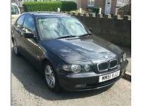 Bmw 325ti compact automatic/manual black 12 months m.o.t looks and drives superb