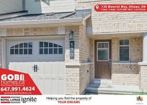 House in OTTAWA, ON BR: 3 WR: 3 (Longfields Dr/Strandherd Dr)