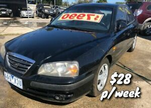 2005 Hyundai Elantra XD MY05 FX Black 4 Speed Automatic Sedan Cranbourne Casey Area Preview