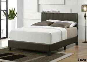 New KING SIZE Bed in Brown Color! (A bit damaged during shipping