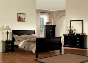 4 piece Black Bedroom Furniture Set - King-sized Bed Frame for sale  Edmonton