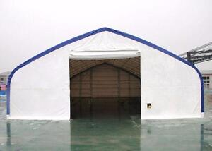 NEW 40X80X23 DOUBLE TRUSS FABRIC STORAGE BUILDING SHELTER