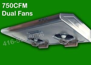 750 CFM Under Cabinet Kitchen Range Hood  Exhaust fan only $159