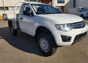 2011 Mitsubishi Triton MN MY11 GLX White 5 Speed Manual Cab Chassis Archerfield Brisbane South West Preview