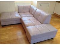 L shape stylish grey/lilac sofa