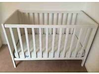 X2 Ikea cot and and mattress £40