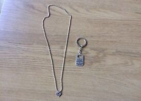 For special dads and girls necklaces key ring silver brand new never been used