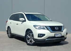 2018 Nissan Pathfinder R52 Series II MY17 ST-L X-tronic 2WD White 1 Speed Constant Variable Wagon Berwick Casey Area Preview
