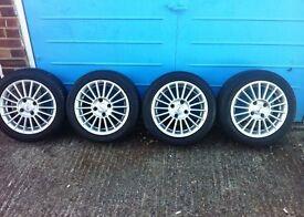 "15"" Fox Racing Alloys (4 Excellent Tyres 4x108, Ford Citroen Peugeot)"