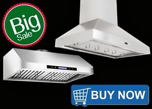 600 cfm to 1000 cfm Range Hoods Kitchen Exhaust Fans