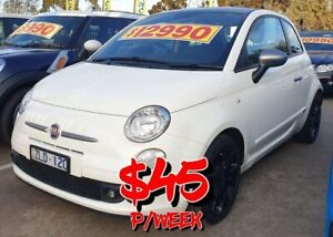 2012 Fiat 500 Series 1 White 5 Speed Manual Hatchback Dandenong Greater Dandenong Preview